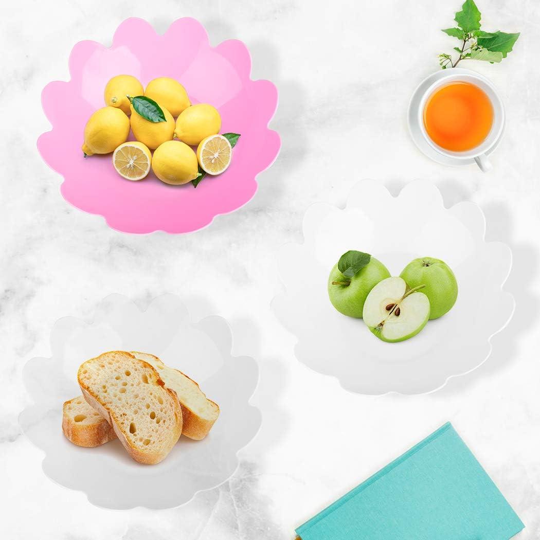 Fruit Bowl Set, Outgeek Kitchen Fruit Bowl Set 3PCS Large Cute Flower Fruit Bowl Decoration Fruit Bowls for Home Office to Store Snacks, Fruits, Vegetables, Household Goods Etc