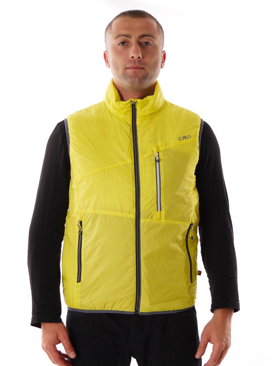 CMP Bodywarmer Weste Funktionsweste gelb Kragen Taschen Primaloft® Gr.50 3Z08467