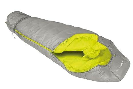 VAUDE Schlafsack Arctic 1200 - Saco de dormir momia para acampada, color gris/verde