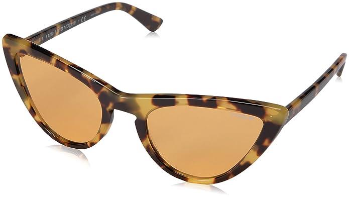 Gigi Hadid for Vogue Eyewear Womens Cateye Round Sunglasses VO5211S Brown Yellow Tortoise/Orange - 54mm