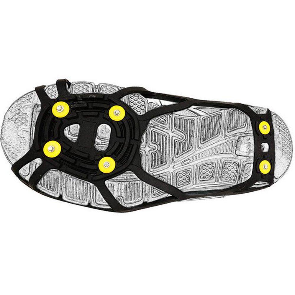 Od-sports Antiskid Shoe Covers Elastic Magic Spike Ice Gripper Mountaineering Hiking 6-Teeth Crampons Outdoor Ski Ice Snow Hiking Climbing