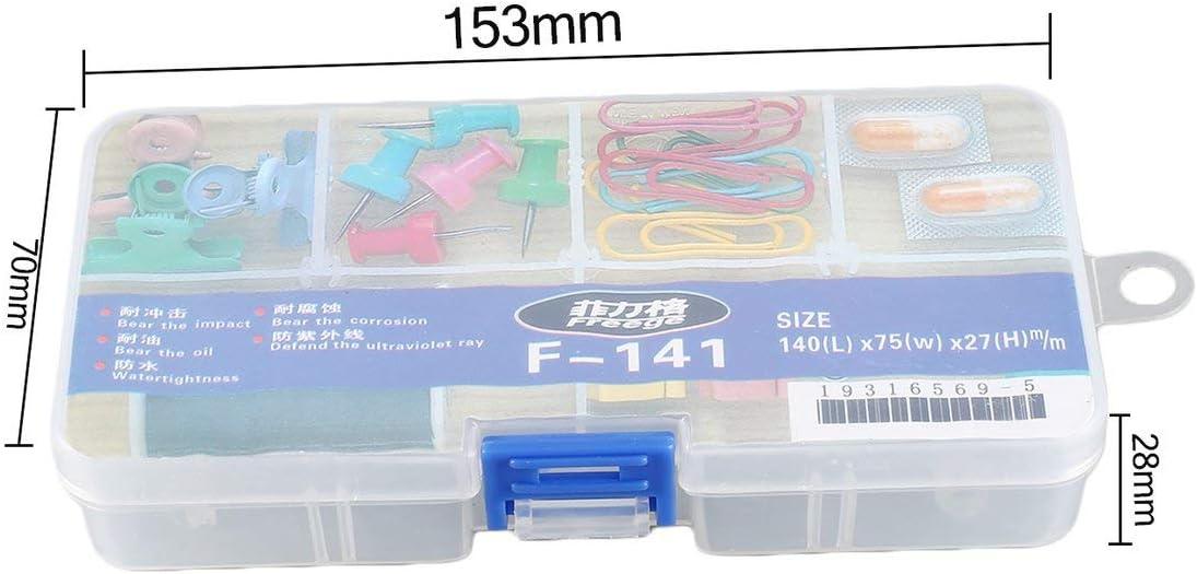 F-141 8 emplacements Portable Bo/îte de rangement pour outils Portable Bo/îte /à vis Organisateur
