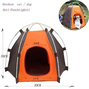 Cabañas en exteriores Cachorro Parque plegable para pequeño perro/Cat, amanni Animales Parque Caseta