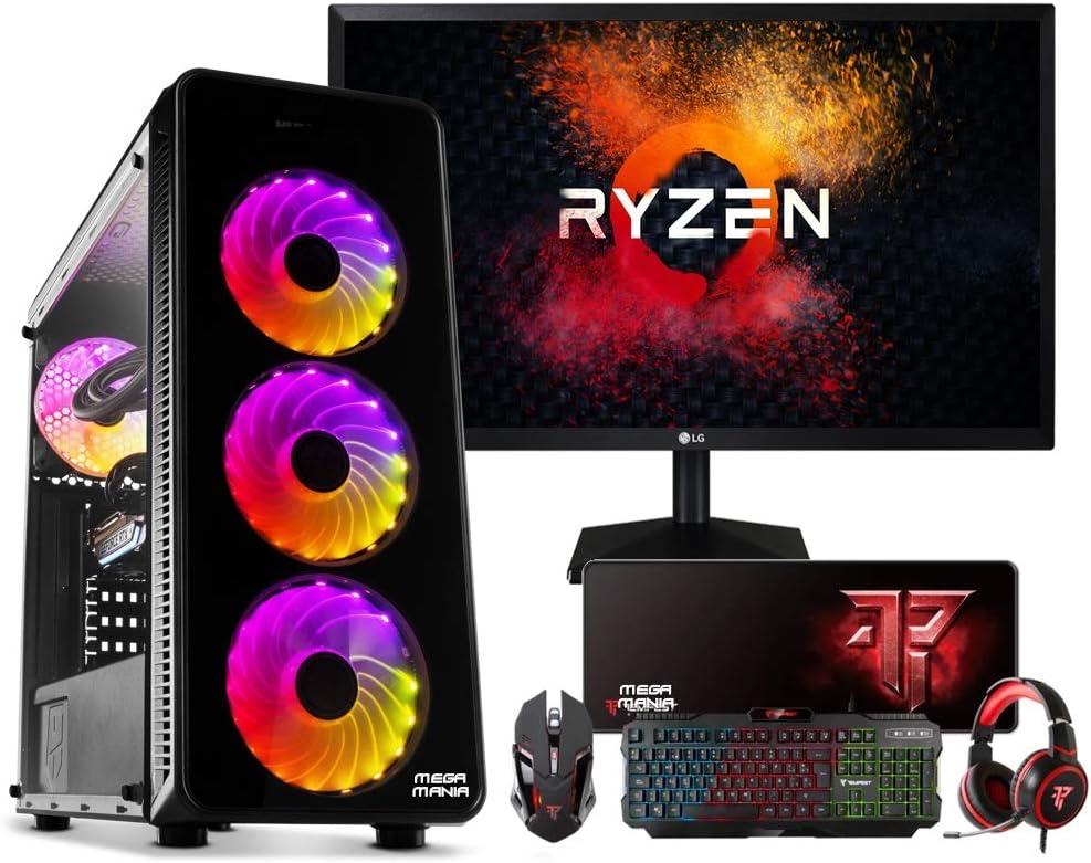Megamania PC Gaming AMD Ryzen 5 3400G, Ordenador de sobremesa 4.2 ...