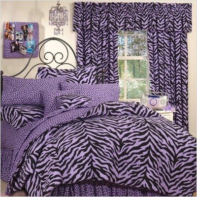 Bundle-82 Zebra Lavender Bed-in-a-Bag Collection (5 Pieces) ()