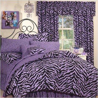 - Bundle-82 Zebra Lavender Bed-in-a-Bag Collection (5 Pieces)