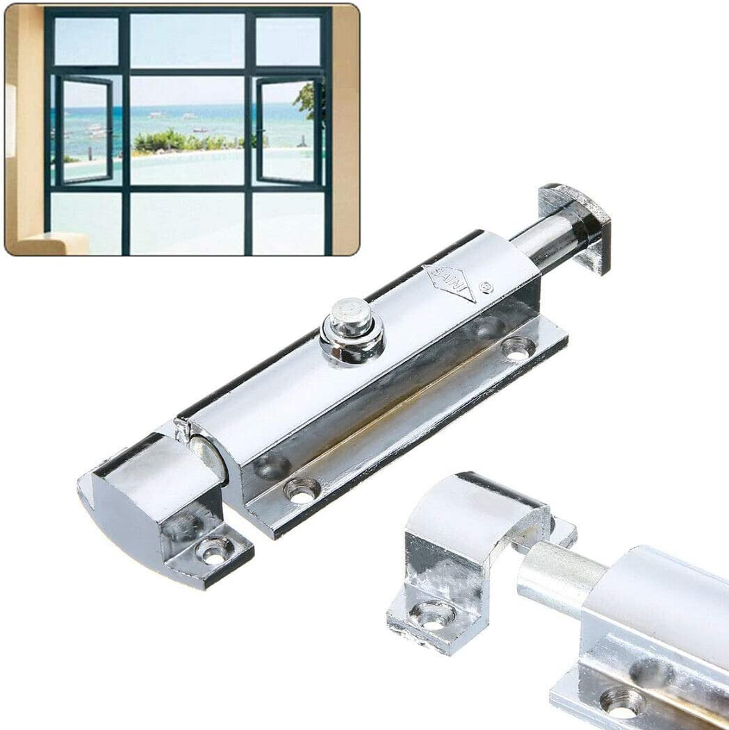 Modern Polished Chrome Door Lock Heavy Duty Bathroom Bedroom Bolt Silver Secure