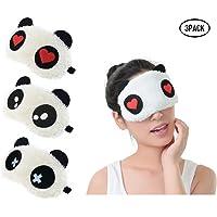 Fontee® 3pcs Linda Panda Antifaz para Dormir, Suave