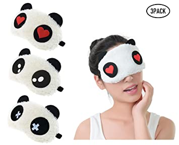 Fontee® 3pcs Linda Panda Antifaz para Dormir, Suave Mullido ...