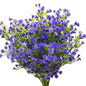 WSERE Artificial Flowers Plants Lifelike Fadeless Fake Flower Faux Plant Indoor Outdoor Decor 91