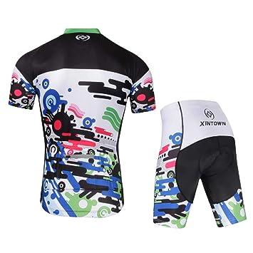 NBWS Conjunto de Ropa de Ciclismo para Hombre, Camisa de ...