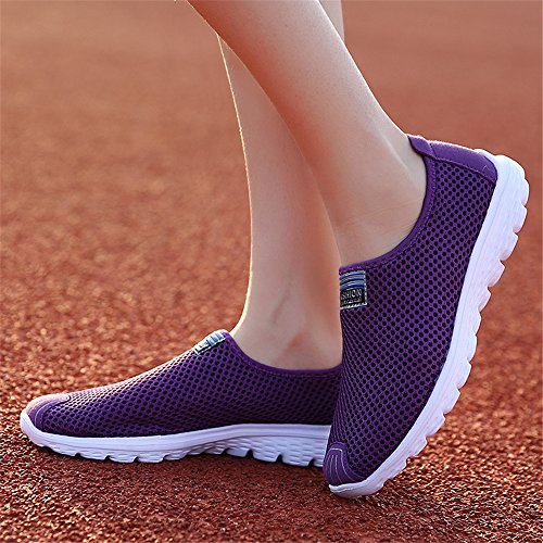 Breathable Ks555 for Lightweight Comfortable Shoes Men Purple Casual Mesh Shoes FZDX AFqPHvXq
