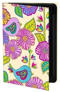 Keka Julia Grifol My Birds and My Flowers - Funda de diseño (rígida, tipo libro) para Samsung Galaxy S4, diseño de flores y pájaros