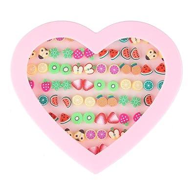 amazon com beauty7 assorted cute fruit theme stud earrings set 36