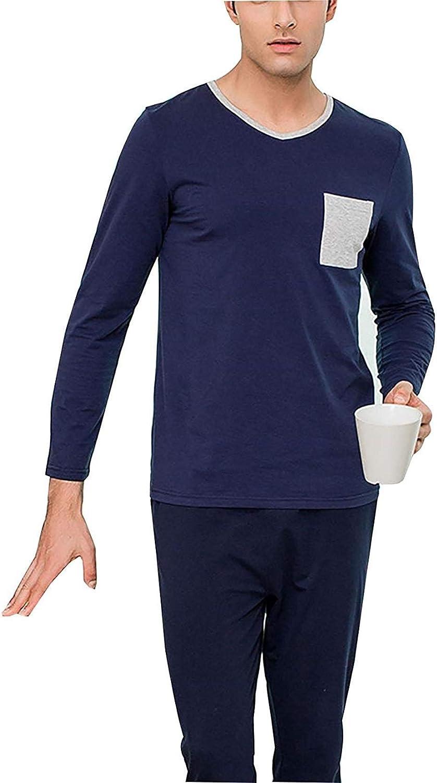 Pijamas De Algodón para Hombre Mens Loungewear Conjunto ...