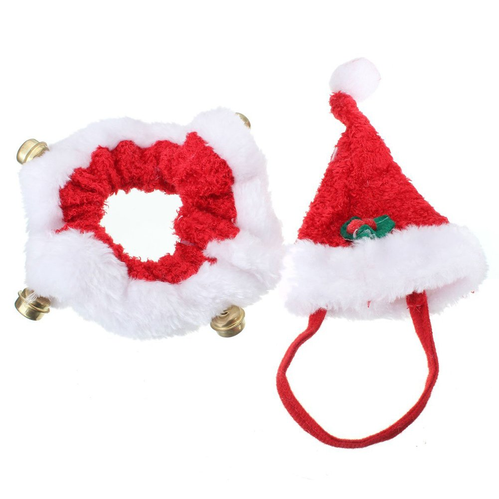 Amazon Christmas Pet Costume Yuntown Pet Dog Cat Xmas Hat And