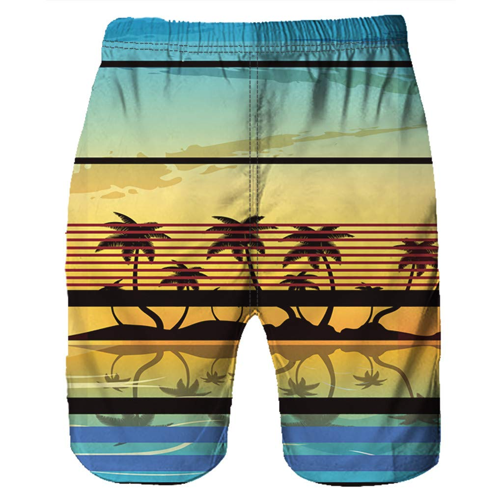 NUWFOR Men Casual 3D Graffiti Printed Beach Work Casual Men Short Trouser Shorts Pants(Multi Color,US:S Waist26.0-29.9'') by NUWFOR (Image #4)