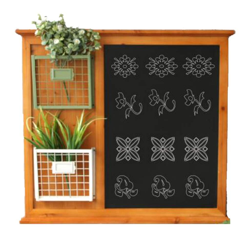 シェルフ メッセージボードラック ヴィンテージ古い純木のメッセージボード 錬鉄製の花スタンド黒板 クリエイティブサイバーバーの壁の装飾 ウォールマウント (Size : 56x8x63cm) B07SC8TJZH  56x8x63cm