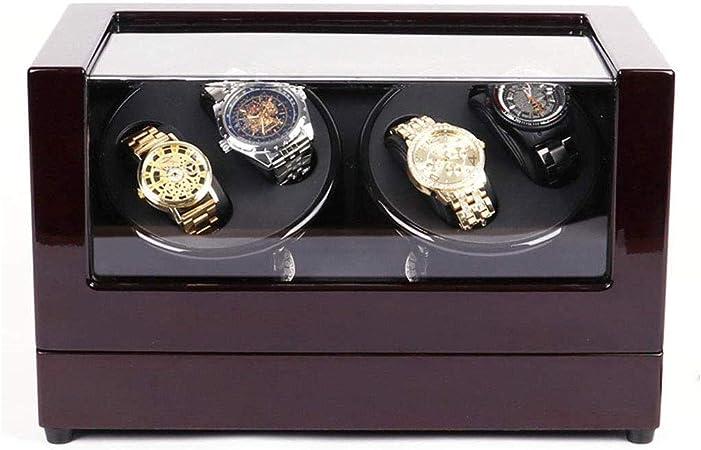 YJHH Caja Giratoria 4 Relojes, Giratorio Doble para Reloj, Motor de Calidad y Silencioso, 4 Modos de Uso pre-programados, Funciona con Pilas o con Fuente de Alimentación: Amazon.es: Hogar