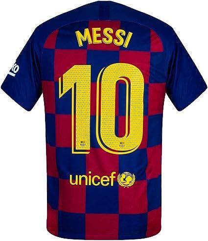 Amazon Com Nike Barcelona Home Stadium Messi 10 Jersey 2019 2020 Match Pro Printing M Sports Outdoors