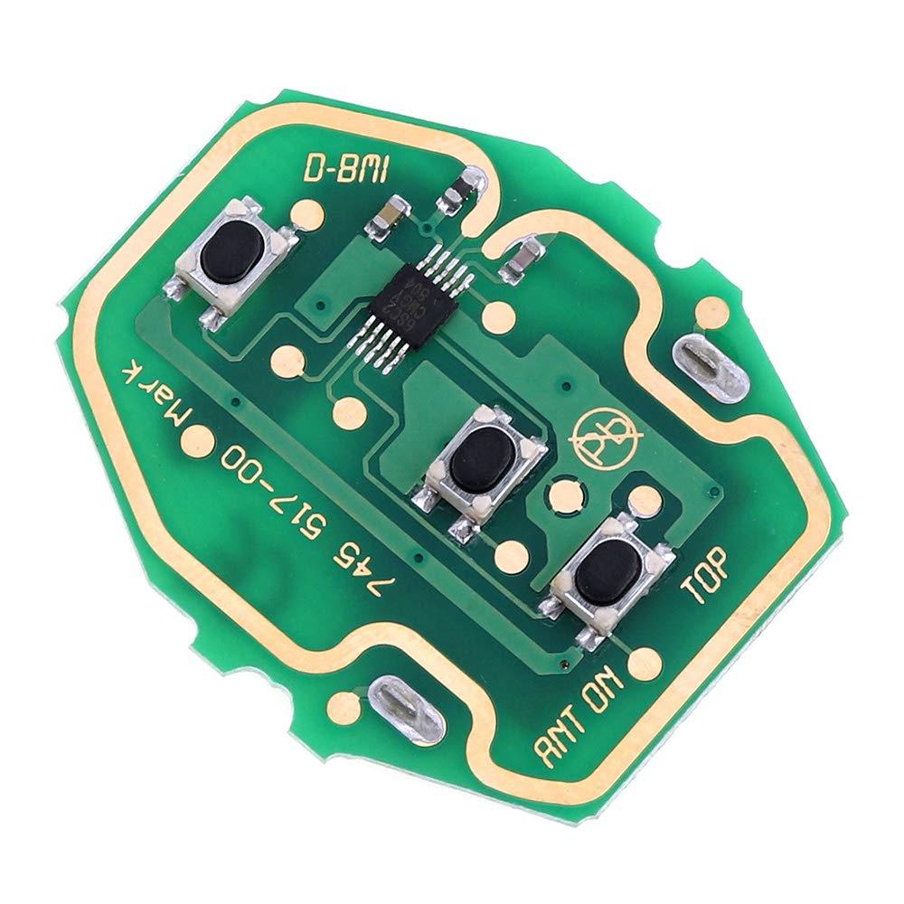 ePathChina Telecomando per automobile con chiave 433 MHz con chip PCF7935 e stelo della chiave HU92 3 tasti