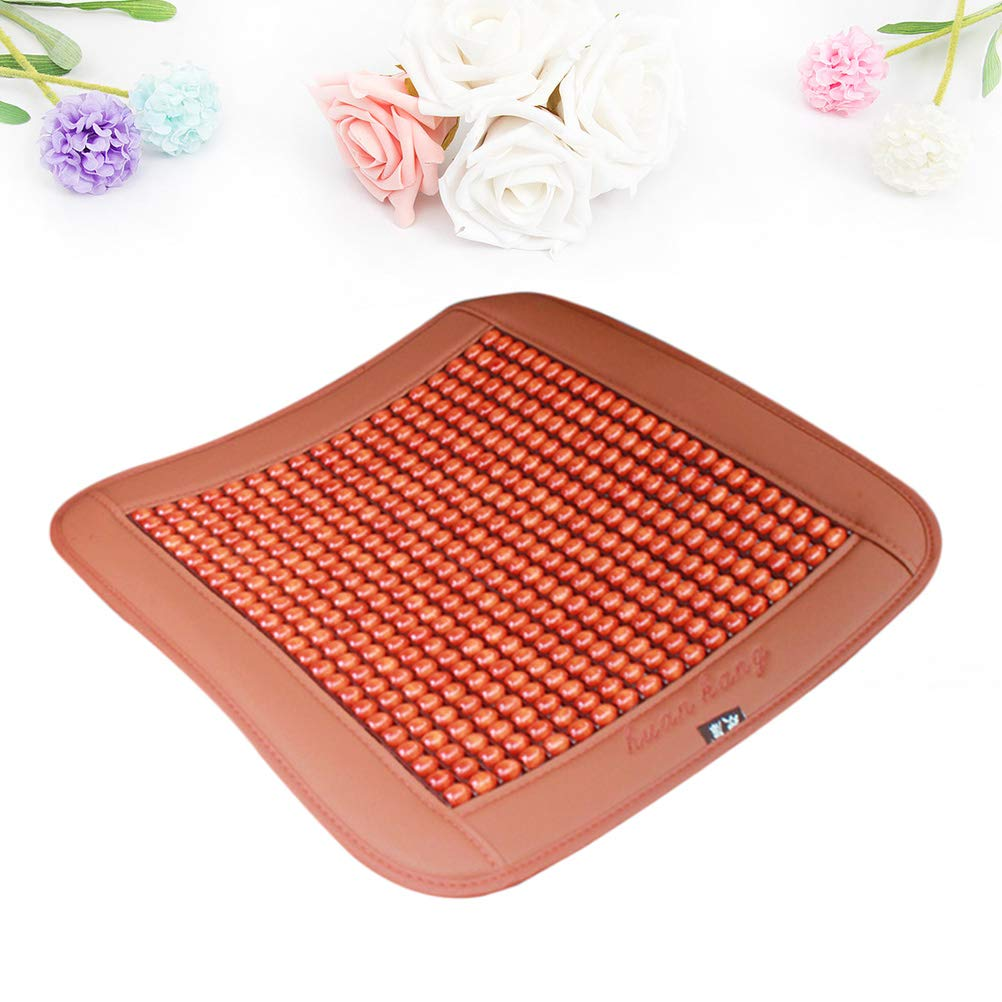Xljh Summer Cool Car Seat Cushion Pad Wooden Bead Mat Pads For Office Car Seat Dining Chair Car-Styling Auto Supplies Seat Pads 1pcs