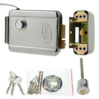 LIBO Control de Acceso Control Eléctrico de Bloqueo Cerradura Electrónica Dedicada DC 12V NC Modo Metal con Llaves para el Kit de Sistema de Control ...