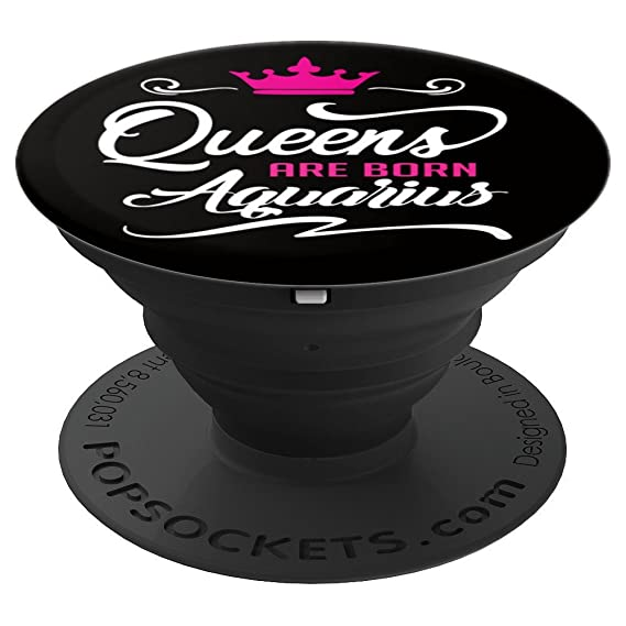 Queen Are Born Aquarius Gift Pop Socket - PopSockets Grip and Stand for Phones and Tablets