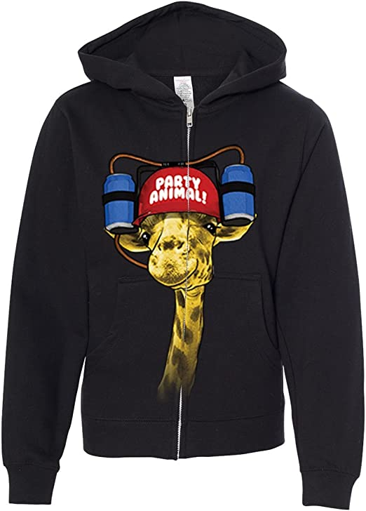 Giraffe Unisex Toddler Hoodies Fleece Pull Over Sweatshirt for Boys Girls Kids Youth