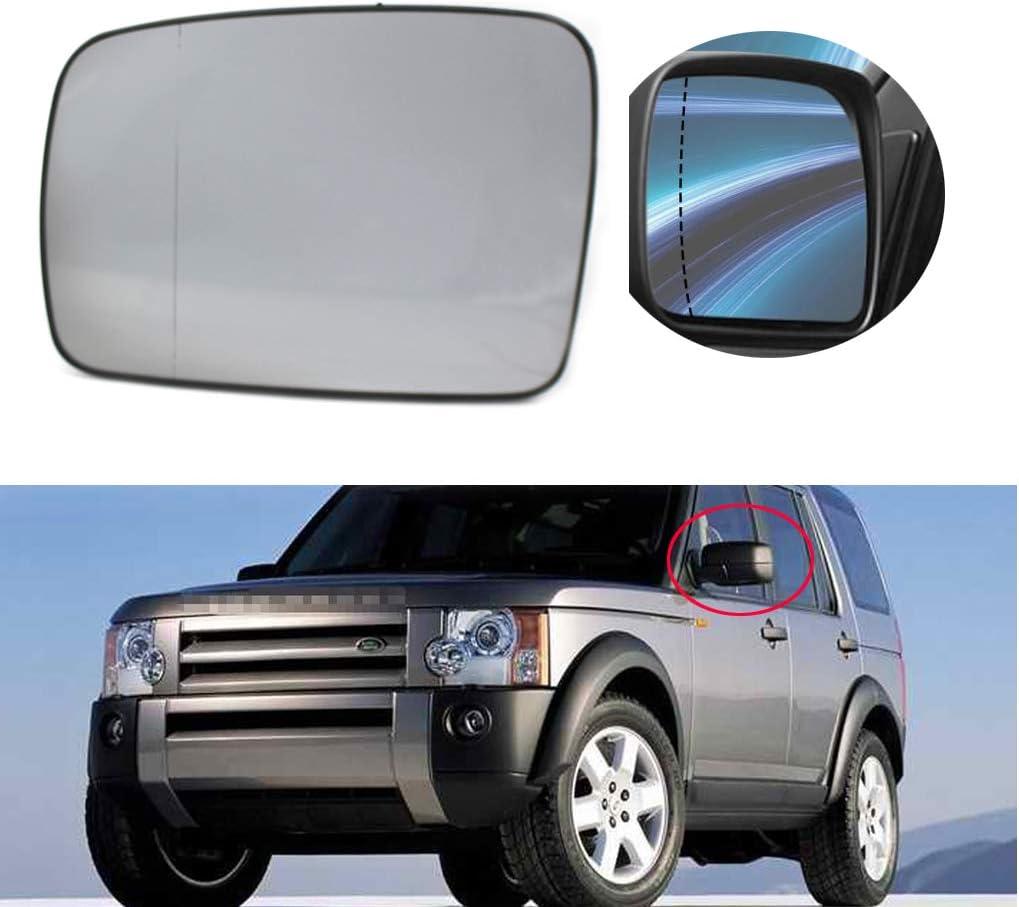 ZYElroy Left Passenger Side Heated Door Mirror Glass White for Land Rover Discovery 3 Freelander 2 Sport 2004-2009 LR017070