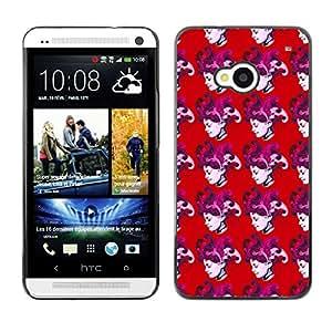 ZECASE Funda Carcasa Tapa Case Cover Para HTC One M7 No.0004649