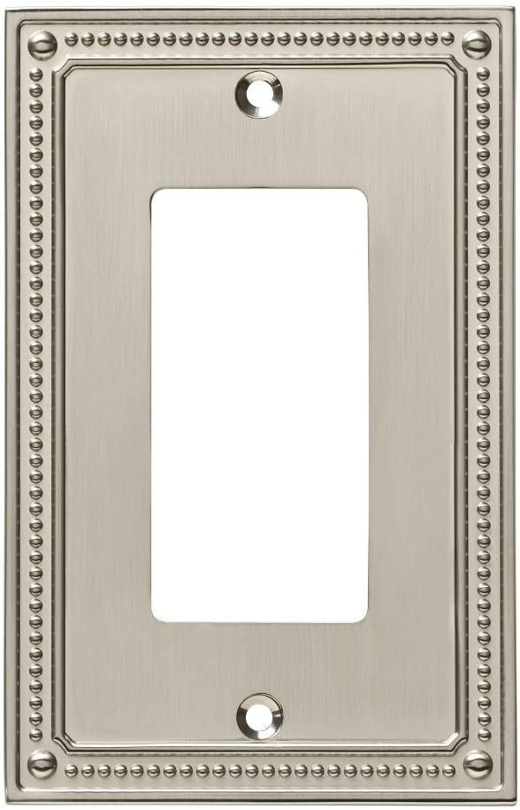 Franklin Brass W35060-SN-C Wall Switch Plate, Single, Satin Nickel - -