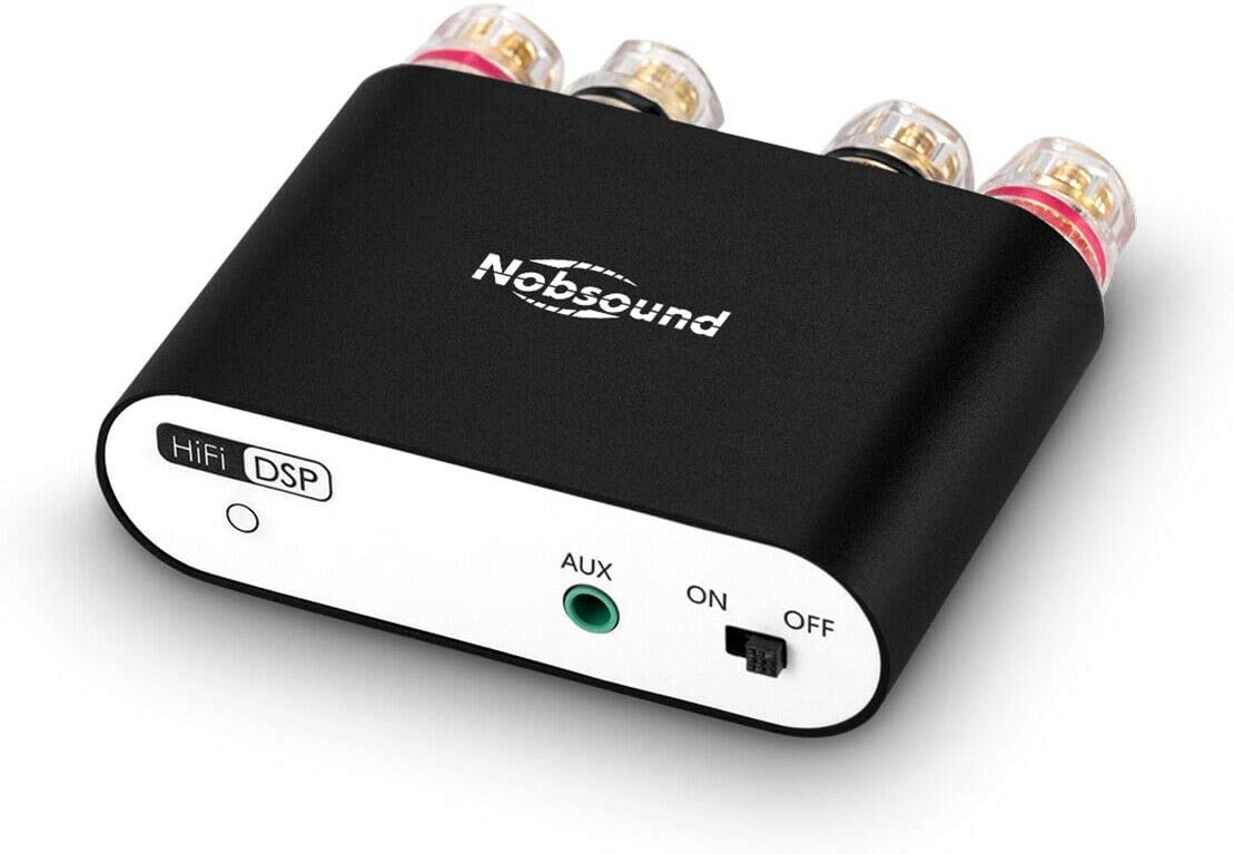 Nobsound NS-10G PRO 100W Bluetooth 5.0 Power Amplifier 2.0 Channel Stereo Audio Amp Wireless Receiver Hi-Fi DSP Home Speaker (Black)