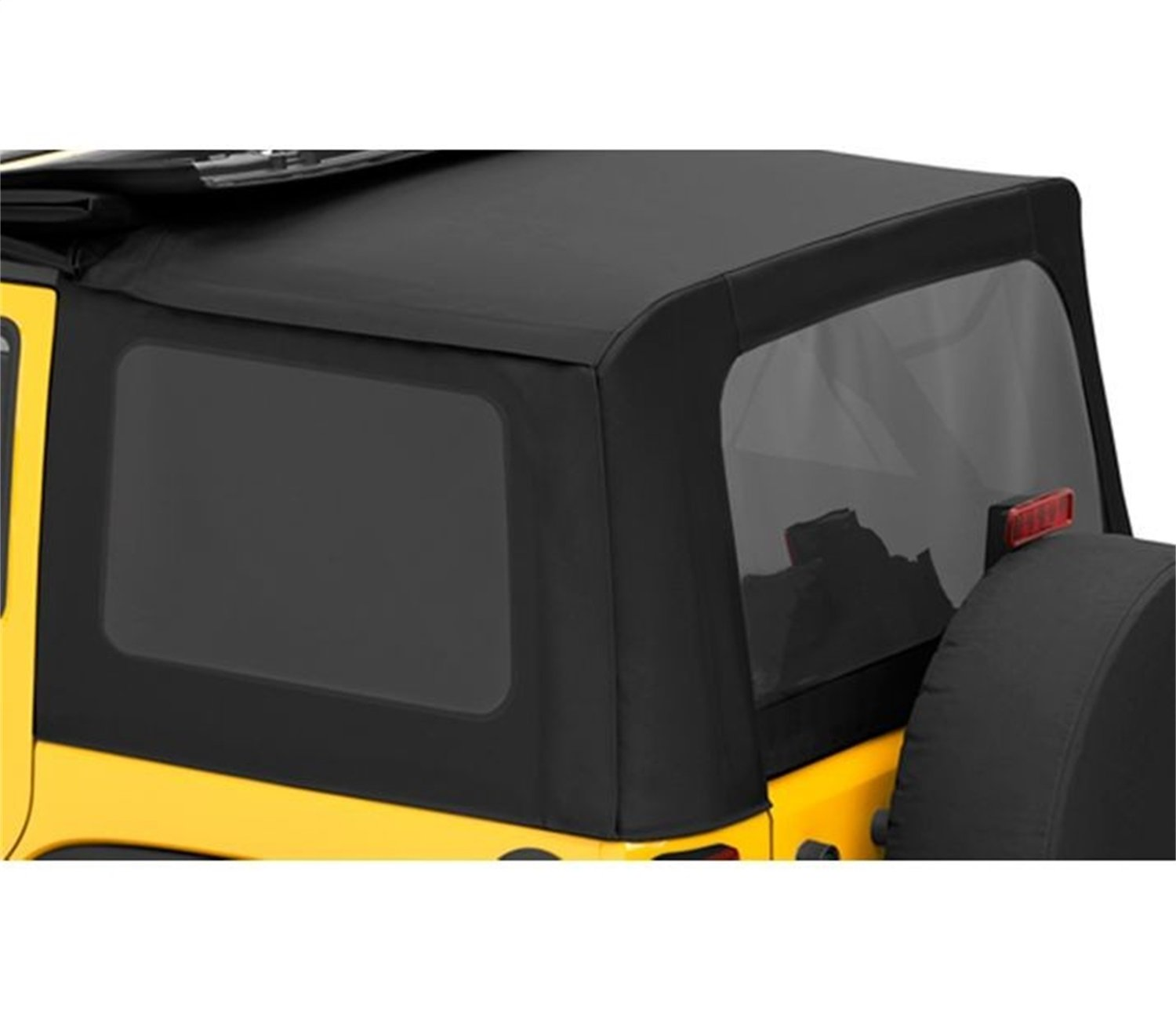 Bestop 58130-35 Black Diamond Tinted Window Kit Sailcloth Replace-A-Top for 2007-2010 Wrangler JK Unlimited