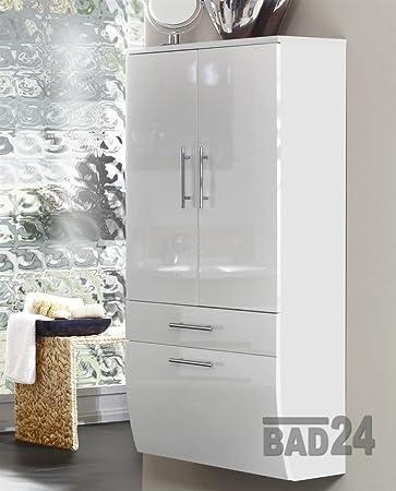 Hochschrank 70 Sanita Hochglanz Weiß/weiß