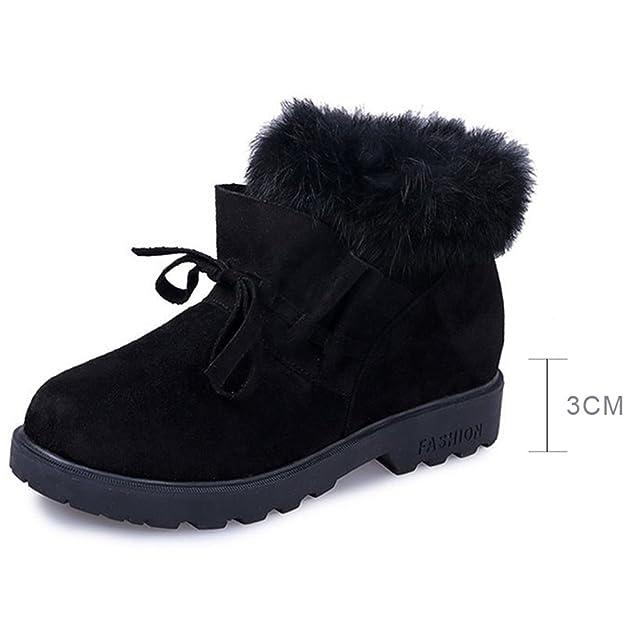 Amazon.com | Feilongzaitianba Snow Boots Women Winter Boots Warm Casual Wedges Shoes Fur Platform Shoes Woman Botas Ankle Boots Women | Boots
