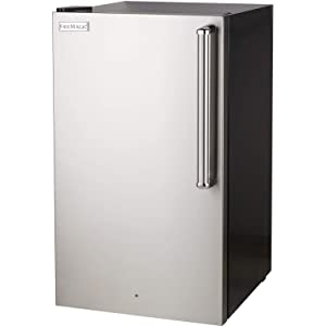 Fire Magic 20-inch 4.0 Cu. Ft. Premium Left Hinge Compact Refrigerator - Stainless Steel Door/Black Cabinet - 3598-dl