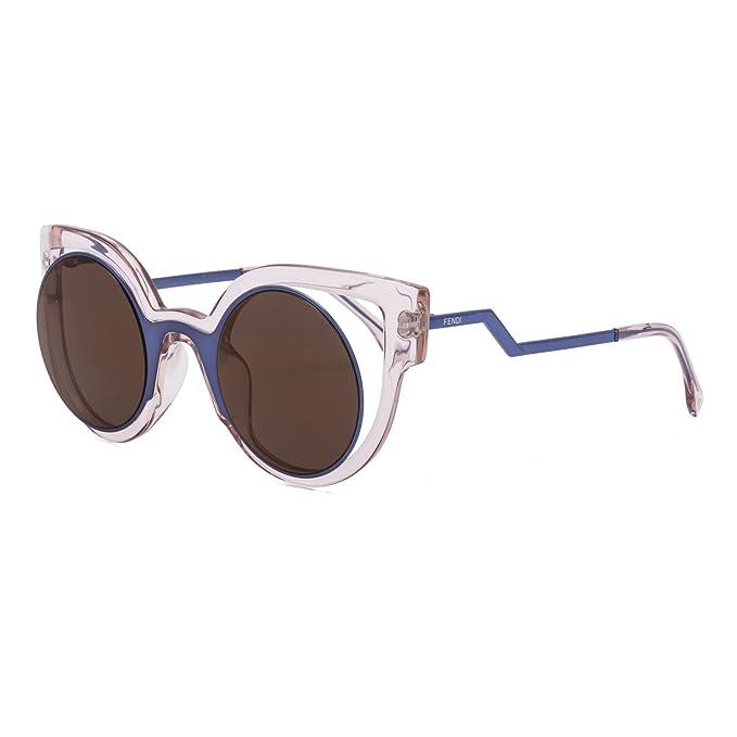5296d009264e Fendi PARADEYES FF 0137 S NT7 LC Blue Pink  Violet Sunglass  Amazon.ca   Clothing   Accessories