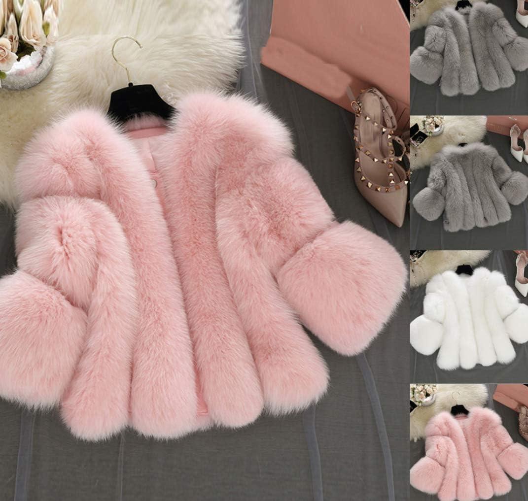 Umooin 2020les Femmes En Fausse Fourrure Plume D'autruche Souple Manteau De Veste D'hiver Fluffy Chaud Court Paragraphe Splice Couleur Massif Pink