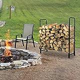 KINGSO 8ft Firewood Rack Outdoor Heavy Duty Log