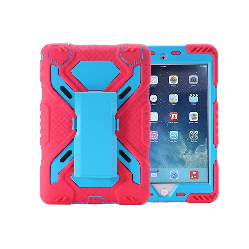 Meiya iPad Air 2 Coque,New Robuste Rsistant aux Chocs salet Neige Sable Proof Survivor Extreme Heavy Duty Etui iPad Air 2 Enfant Cadeau Pochette pour iPad Air 2 iPad 6 Noir+Bleu