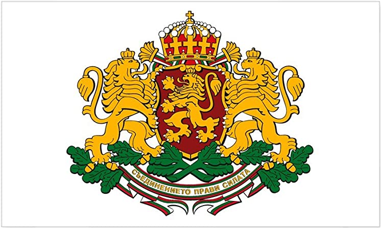 Bulgaria Flag With Coat Of Arms Metal Novelty License Plate Tag For Cars Auto Car Novelty Accessories License Plate Art