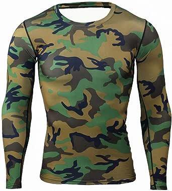 Mens t-shirt compression gym running T-shirts