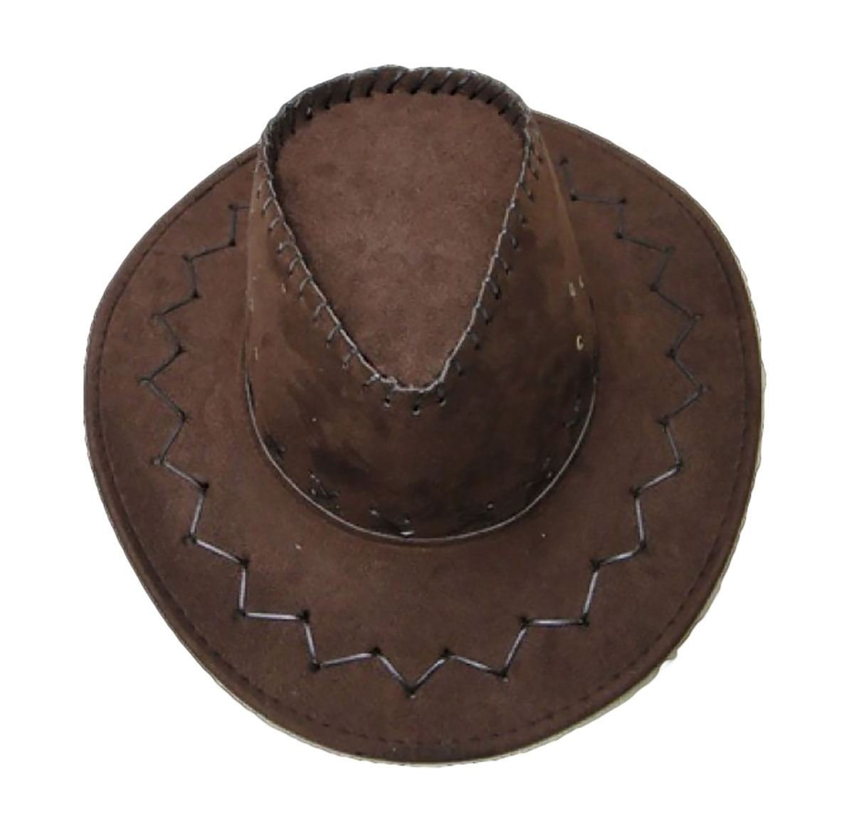 21FASHION Adults Bucket Brim Cowboy Hat Cap Unisex Western Knight Fancy Dress Accessory One Size