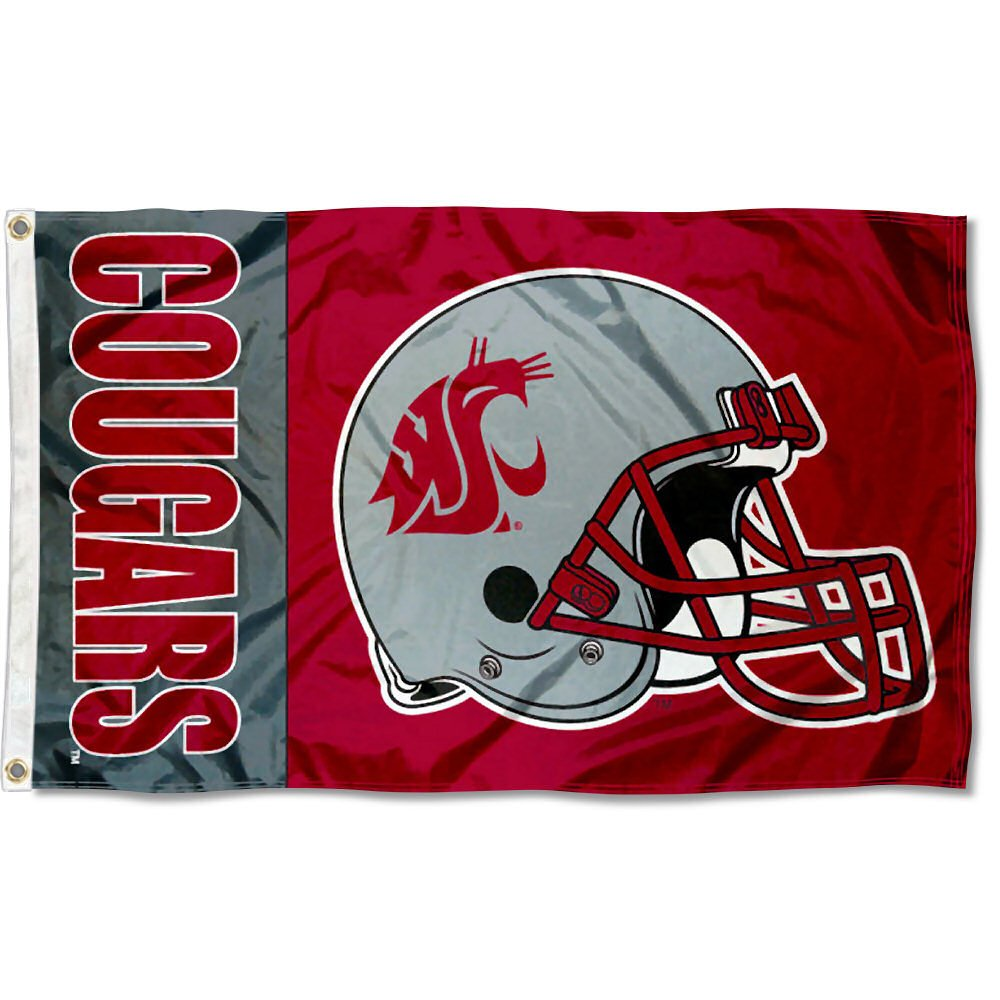 WSU Cougars Helmet 3x5 Flag College Flags and Banners Co
