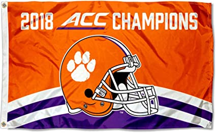 Clemson Tigers 2 Time National Champs 3 x 5 Flag College Flags and Banners Co