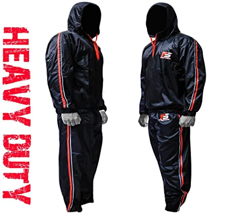 amazon com fightsense mma sauna sweat suit track weight loss