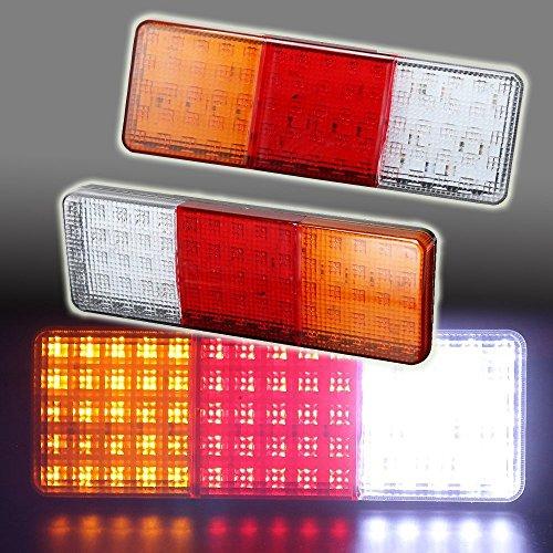(TOPPOWER LED Trailer Tail Lights Bar DC24V 75-LED Waterproof Turn/Signal/Parking/Reverse/Brake/Running Lamp for Car Truck Trailer RV Camper Pickup etc.(2)