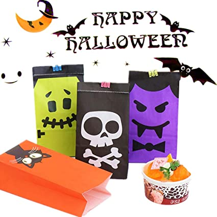 JeVenis 20 PCS Little Monster Birthday Party Treat Bags Favor Paper Gift