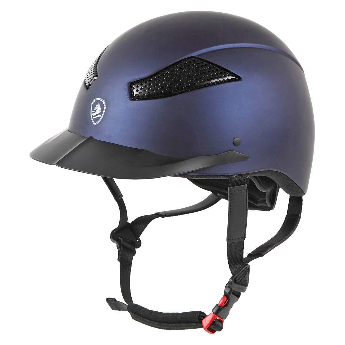 【売り切り御免!】 乗馬 ヘルメット ヘルメット プロテクター 乗馬用品 乗馬帽 帽子 EQULIBERTA B07QD9HFXH (4/10入荷予定)エアリー クールマックスダイヤル調整ヘルメット 乗馬用品 馬具 B07QD9HFXH Medium|ディープネイビー ディープネイビー Medium, 日本茶専門店 てらさわ茶舗:9ca6dc29 --- svecha37.ru
